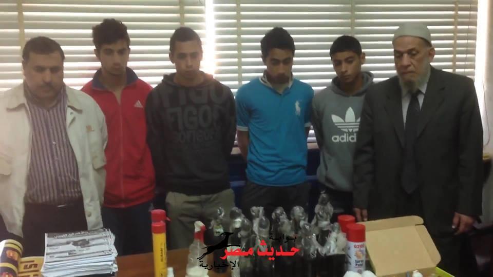 بالصور القبض على أعضاء ألتراس نسور الحرية و المنتمين لتنظيم الأخوان الأرهابى