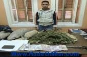 ضبط مسجل شقى خطر لقيامه بالإتجار فى المواد المخدرة وبحوزته 5 كيلو من مخدر البانجو ، وكمية من مخدر الحشيش وفرد رصاص بالمنيا
