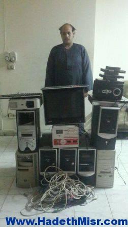 ضبط المتهم بسرقة مدرسة عمر بن الخطاب بأسيوط