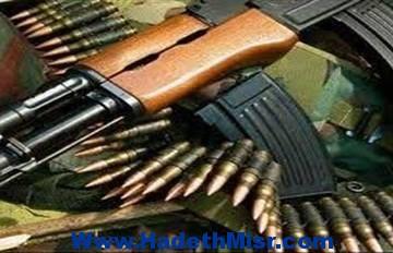 25 قطعة سلاح و110 طلقه مختلفة الأعيره بحمله أمنيه بالمنيا