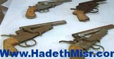 ضبط 25 قطعة سلاح نارى بدون ترخيص بالمنيا
