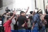 مشادات بين أنصار السيسي وحمدين أمام مكتب الشهر العقاري ببنها