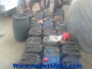 ضبط 2 طن مواد بترولية بحوزة 3 أشخاص قبل بيعها بالسوق السوداء في سوهاج