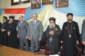 محافظ المنيا والقيادات الأمنية والتنفيذية في جولة على الكنائس والمطرانيات لتقديم التهنئة بعيد القيامة