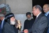 محافظ أسيوط يزور الكنائس والأديرة للتهنئة بعيد القيامة المجيد