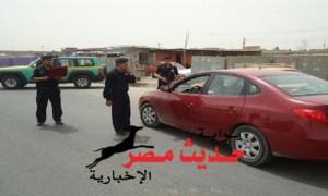 قنبلة داخل سيارة بعد تبادل إطلاق النار مع مستقليها بالعبور