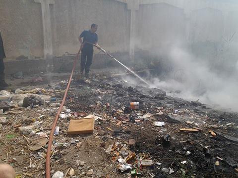 حريق بالمعهد الديني الابتدائي بمدينة دسوق