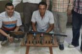 """القبض على """"عامل"""" وبحوزته ترسانة من الاسلحة النارية بكفرالشيخ"""