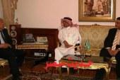 عاطف حلمي يستقبل وفد رفيع المستوى من مؤسسة البريد السعودي