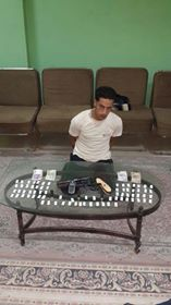 ضبط شخص وبحوزته مخدر الهيروين واسلحة نارية بكفرالشيخ