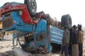 سقوط سيارة نقل من أعلى كوبري طنطا العلوي بالطريق الزراعي