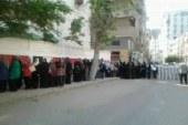 بالصور ..تزاحم المواطنون على مدرسة الثانوية الفنية بدمياط