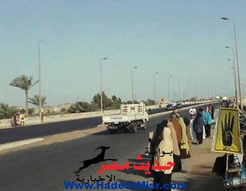 """بالصور.. """"الارهابية""""تتظاهر ضد القوات المسلحة و""""السيسي """"بالبصارطة دمياط"""