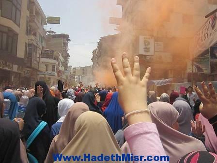 """بالصور..""""الارهابية"""" تنظم مسيرات وتطلق النيران من خلالها على المواطنين بدمياط"""