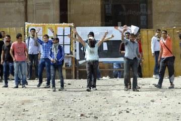 جامعة الأزهر بأسيوط في الاشتباكات العنيفة