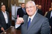 أدلى الرئيس عدلي منصور بصوته في مقر لجنته بمصر الجديدة.