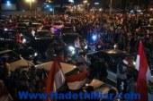 مؤيدو السيسى يواصلون احتفالاتهم بفوز المشير بميدان مصطفى محمود