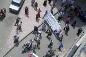 بالصور..مسيرةعمال مصنع غزل ونسيج بدمياط لتأييد السيسي