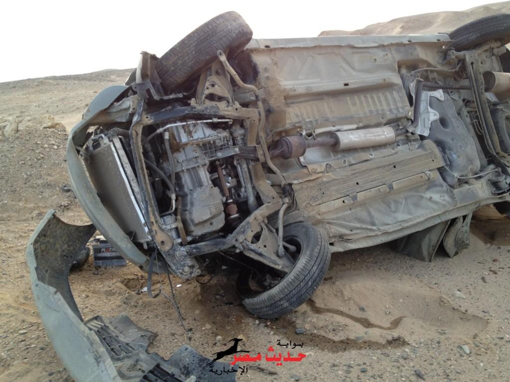 إنقلاب سيارة طريق الكريمات – الزعفرانة يسفر عن مصرع سائق