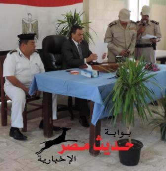 """بالصور … """" الجزار """" يوافق على عقد برنامج توعية لجنود الدرك الأمنى"""