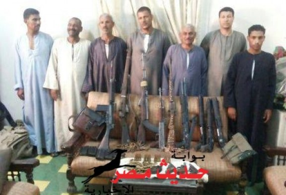 ضبط عدد كبير من الأسلحة والذخائر الغير مرخصة والمتاجرين فيها باسيوط