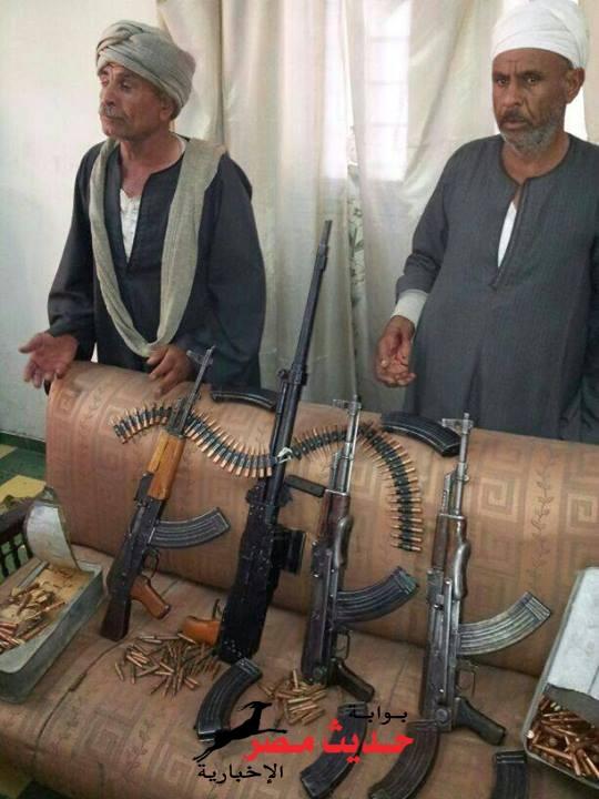 أمن اسيوط ينجح فى ضبط تجارالسلاح