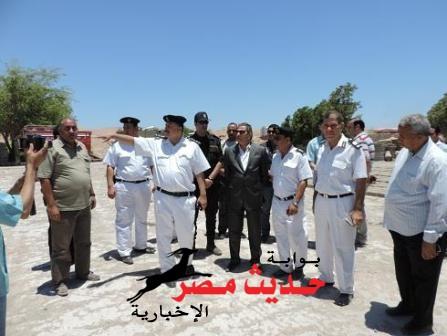 بالصور .. حملة أمنية مكبرة لإزالة مبانى مخالفة بمساحة 191 متر برأس غارب