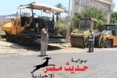 بالصور .. مجلس مدينة الغردقة يواصل رصف شوارع المدينة