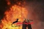 أصابة 3 اشخاص بأختناق فى حريق 13 منزل بسوهاج
