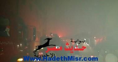 حريق قسم حلوان نتيجة إشعال المساجين النيران فى البطاطين