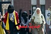 مسيرة لطالبات الإخوان بالأزهر تطوف الحرم الجامعى بالطبول