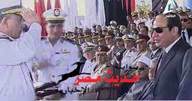 """الرئيس لـ خريجى الشرطة: """"المصريون يدا واحدة واياكم والجور والظلم """""""