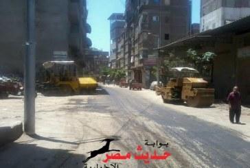 القطان يشرف علي أعمال رصف الطرق بدمياط