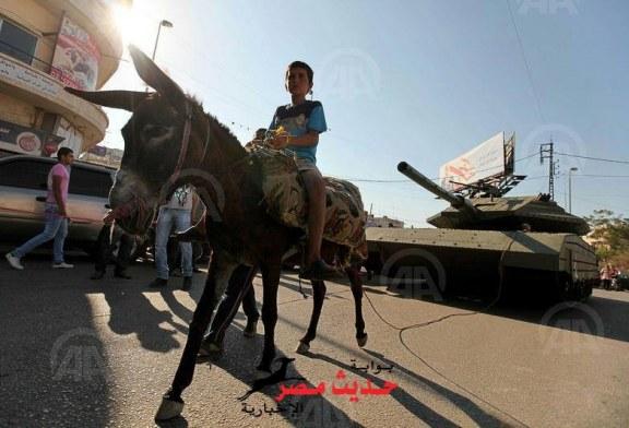 """الجيش_الإسرائيلي: تم استهدافنا بـ """"حمار"""" مفخخ فيغزة"""