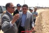 بالصور حماد يرافق وزير الرى فى زيارته لأسيوط لتفقد مشروع القناطر الجديدة