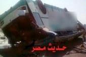 مصرع سائق إثر إنقلاب أتوبيس سياحى طريق القاهرة – رأس غارب