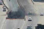 أنصار الإخوان بالفيوم يقطعون طريق الكوبرى العلوى
