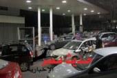 تكدس مروريا بشارع الهرم لتوافد السيارات على محطات الوقود