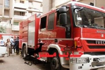 تفحم وتلف 6 سيارات وإنقاذ 40 أخرى فى حريق جراج بكفر الشيخ
