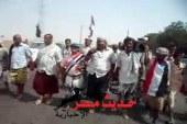 الجنوبيين في مسيرة جماهيرية من بساتين الحسيني بلحجيؤكدون على وحدة الصف الجنوبي