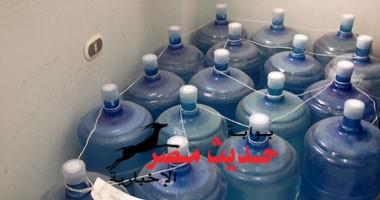 ضبط مصنع لتعبئة المياه المعدنية بدون ترخيص بنجع حمادى