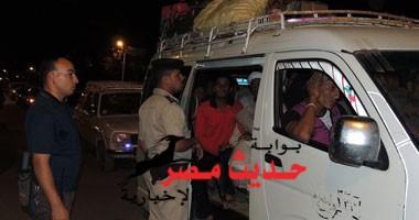 حملات مرورية مكثفة بشارع الجيش والكورنيش بالسويس