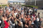 مظاهرة تستقبل وزير التعليم الجديد في أول يوم عمل