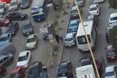 زحام مرورى أعلى كوبرى أكتوبر بسبب حادث تصادم 3 سيارات