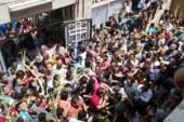 """الأقباط يحتشدون فى كنائس السويس للاحتفال بـ""""أحد السعف""""  ."""