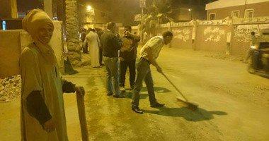 حملة ليلية لتنظيف الأحياء وإزالة الإشغالات بقلين كفر الشيخ.