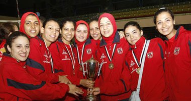 """""""سيدات طائرة الأهلى"""" يطير إلى تونس للمشاركة فى البطولة الأفريقية للأندية  ."""