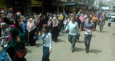 تفريق مظاهرة إخوانية بكفر الدوار .