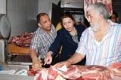 ضبط كمية من اللحوم غير الصالحة للاستهلاك الآدمى بمنافذ بيع بدمياط  ..