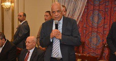 رئيس البرلمان يزور مصابى حادث المنيا بمستشفى معهد ناصر